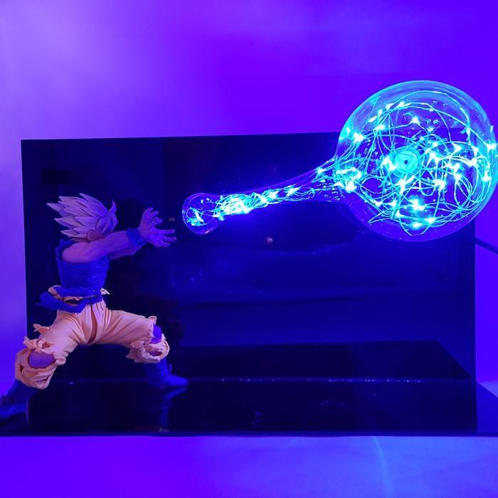 Son Goku Super Saiyan Kamehameha Wave Blue Flash Ball Diy 3d Led Light Lamp Dragon Ball Goku Goku Super Saiyan Anime Dragon Ball Super