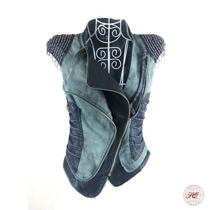 2012 Fashion beaded spring women's clothing denim vest
