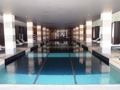 the beautiful indoor pool
