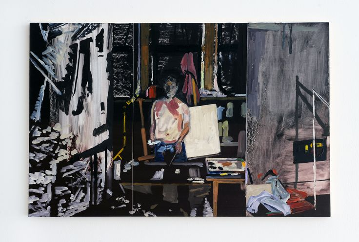'Studio Paintings' (2014), Richard Walker, Reid Gallery, The Glasgow School of Art. Photo: Alan Dimmick. Courtesy the artist
