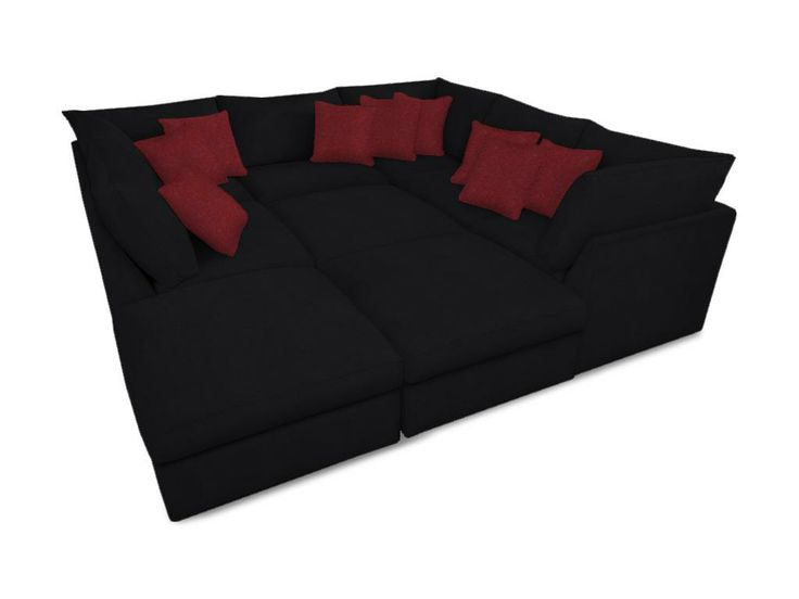 pit sectional couch in black chenille i would love this couch