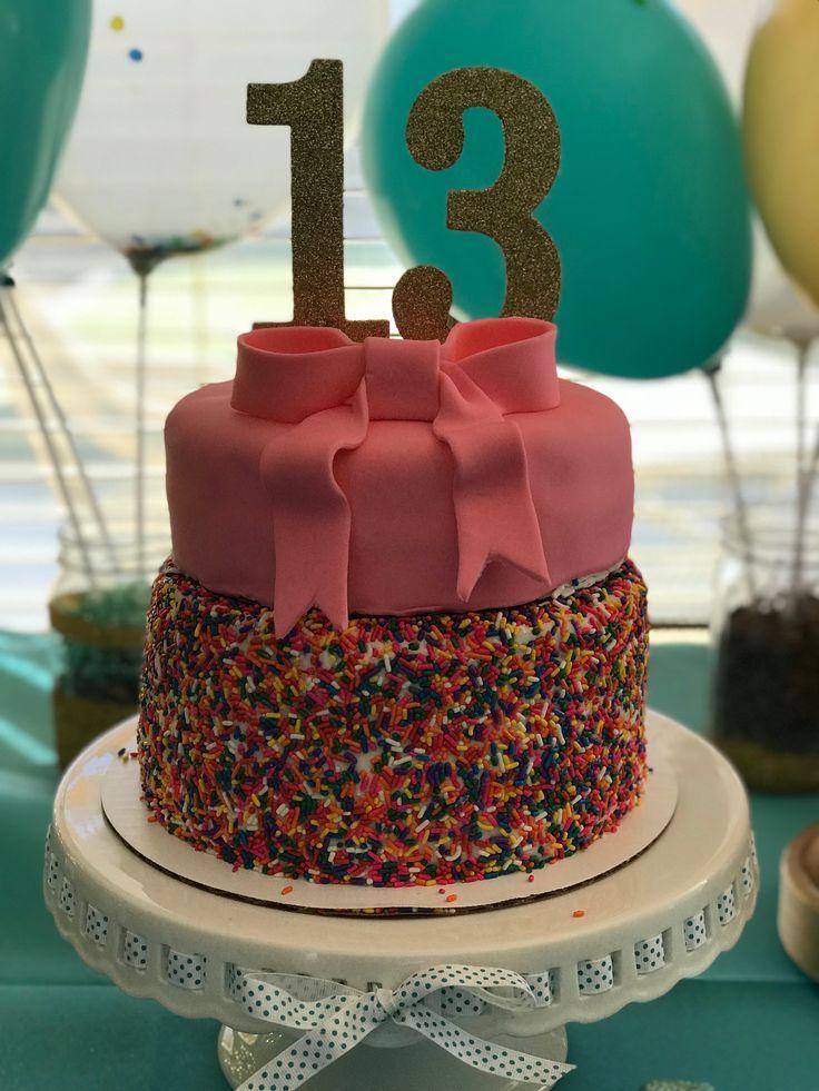 Sprinkle Birthday cake for 13 year old girl 13 birthday