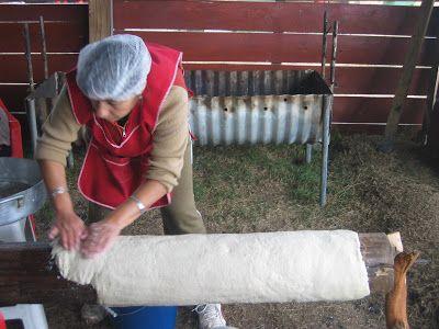 Preparación de Chochoca, en Chiloé. Foto de Manuel Pinto.