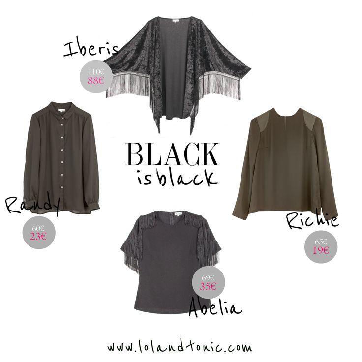 Black trend: velvet, fringes, leather... http://www.lolandtonic.com/products