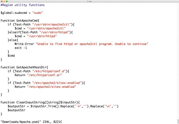 Für Shell-Skripte kann der Anwender in der Powershell in separaten Dateien beliebige Funktionen definieren, die sich ... (Screenshot: Martin Loschwitz)