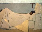 In Bed, Au lit. 1891  by Edouard (Jean-Edouard) Vuillard