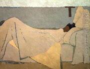In Bed, Au lit. 1891  by Edouard (Jean-Edouard) Vuillard