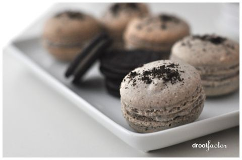 Cookies and Cream Macarons: Cream Macaron, Fun Recipes, Christmas Baking, Baking Cookies, Cream Macaroons, Cookies And Cream, French Macaroons, French Macaron, Sweet Tooth
