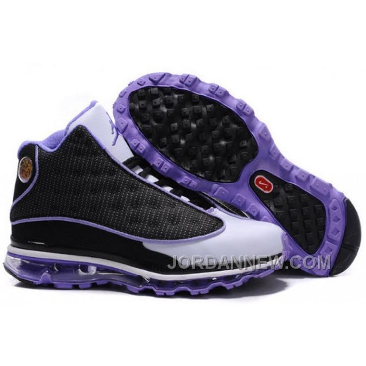 Men's Nike Air Max Jordan 13 Shoes White/Black/Purple Copuon Code FYz6a8,