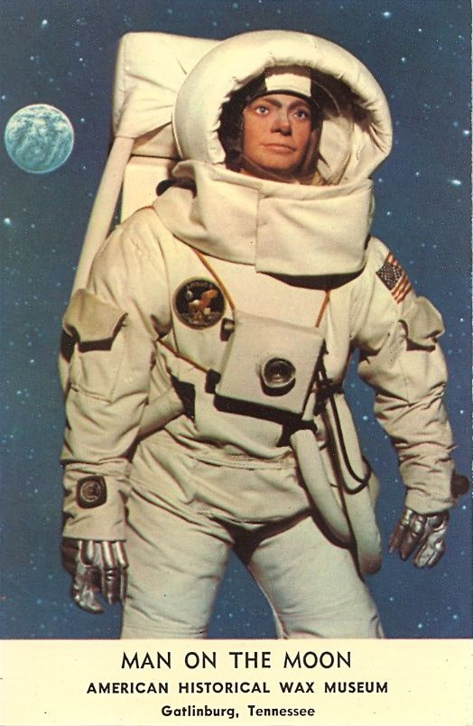 """""""One small step for man, one giant leap for mankind."""" American Historical Wax Museum, Gatlinburg, Tennessee. Conspiracy theorists, start yer engines!!"""