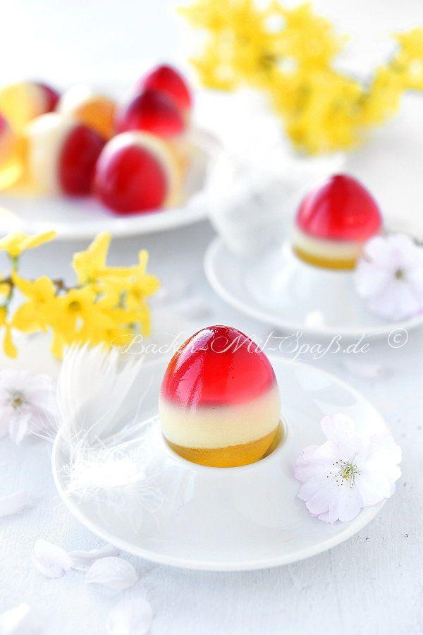 Götterspeise in der Eierschale – #Der #Eierschale #Götterspeise #sommer