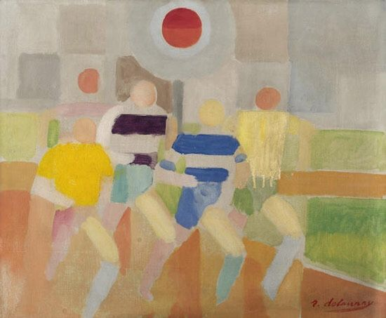 Robert Delaunay (French, 1885-1941), Runners, 1924. Oil on canvas, 45,8 x 55 cm