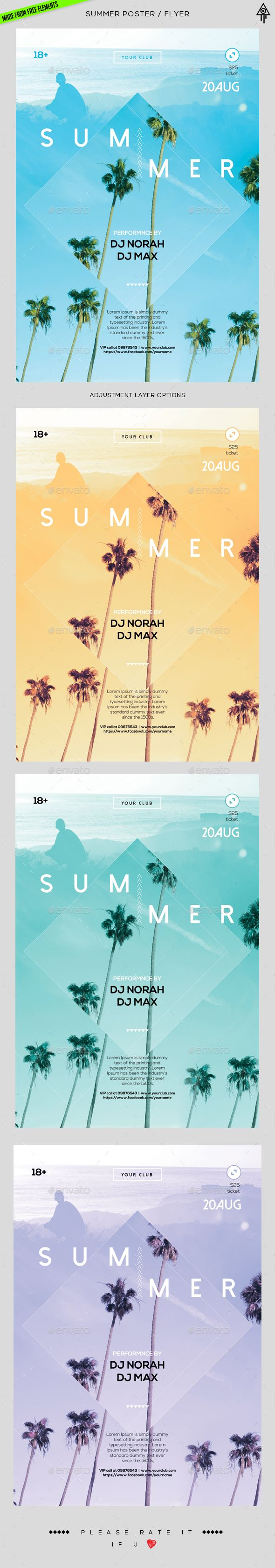 Summer Poster / Flyer Template PSD. Download here: http://graphicriver.net/item/summer-poster-flyer/16669722?ref=ksioks
