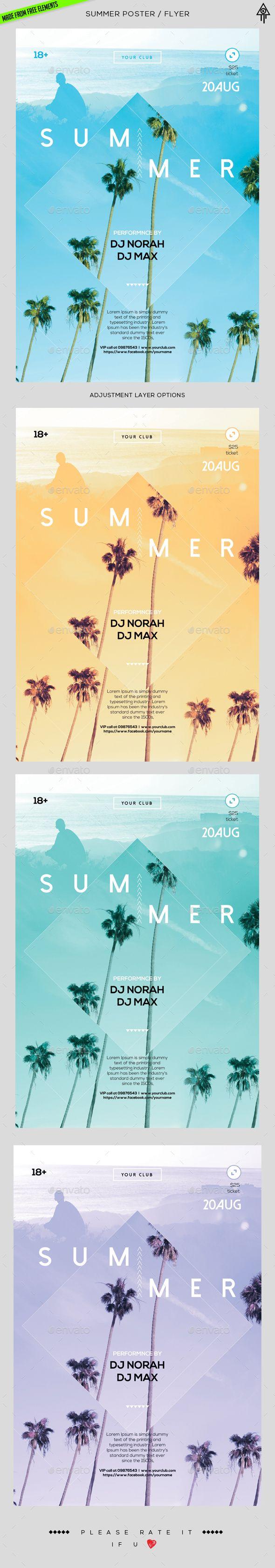 Summer Poster / Flyer Template PSD. Download here: http://graphicriver.net/item/summer-poster-flyer/16669722?ref=ksioks