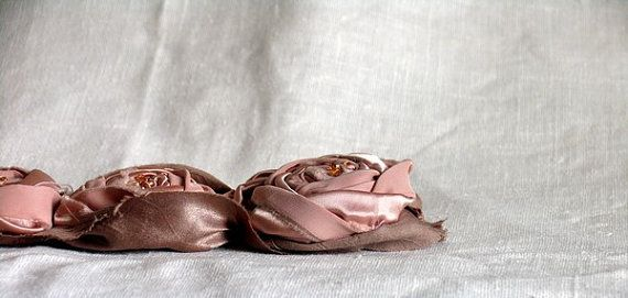 Rustic Chic Bridal Hair Accessories by recyclingroom on Etsy, $35.00