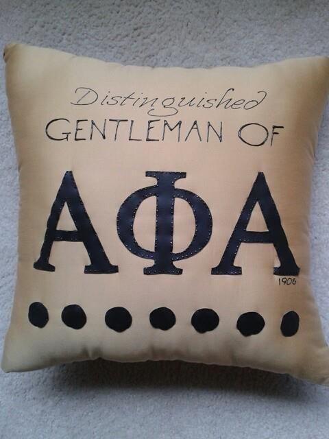 Alpha Phi Alpha pillow