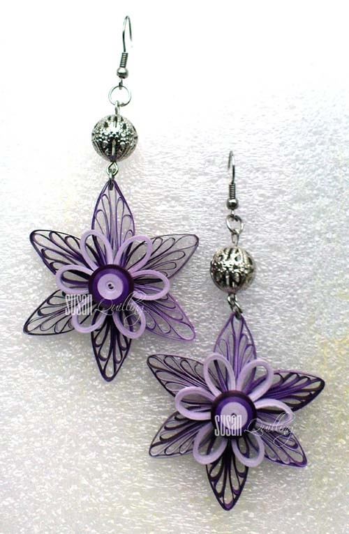 earrings by SUSAN QUILLING