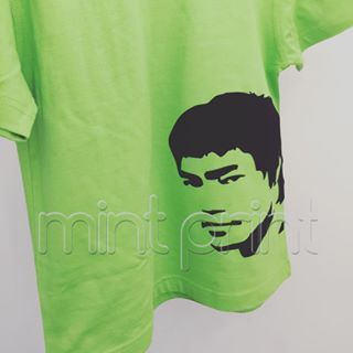 Custom child's tshirt with soft brush Bruce Lee silhouette