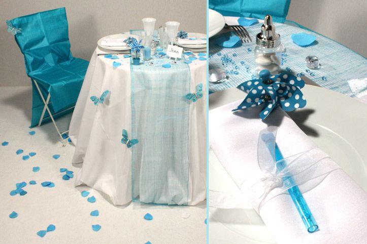 Baptême bleu tendre - décoration mariage et baptême - e-options.net