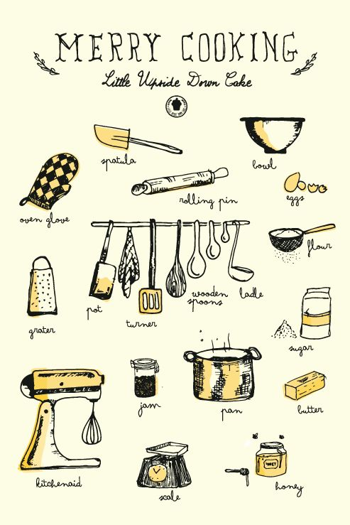 Merry Cooking   Design by Sara Evangelista for Little Upside Down Cake
