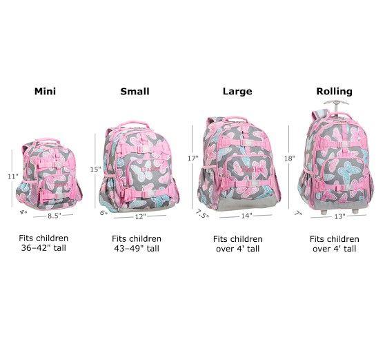 Mackenzie Gray Flower Backpacks