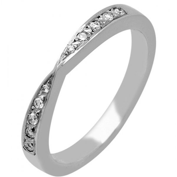 22 best Shaped 18ct White Gold Wedding Rings Diamond Inlaid images