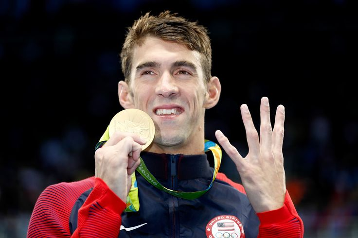 Michael Phelps, still the greatest, wins 200 IM for fourth consecutive Olympics  -  August 12, 2016  -     Gold medalist Michael Phelps of the United States celebrates during the medal ceremony for the Men's 200m Individual Medley Final on Day 6 of the Rio 2016 Olympic Games at the Olympic Aquatics Stadium on August 11, 2016 in Rio de Janeiro, Brazil.