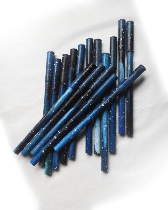 Bolígrafos originales galaxia papel reciclado pintura