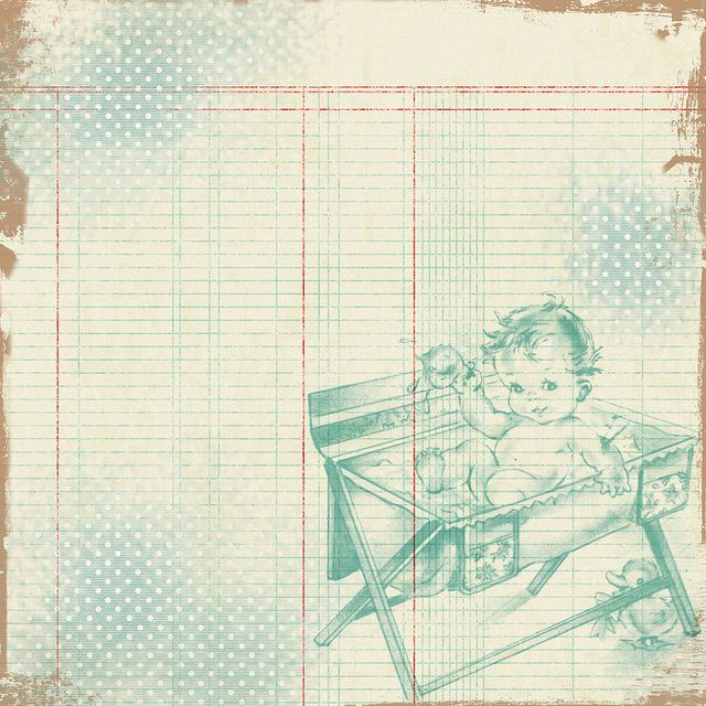 Free Vintage Digital Scrapbooking Paper - Vintage Baby - Free Pretty Things For You