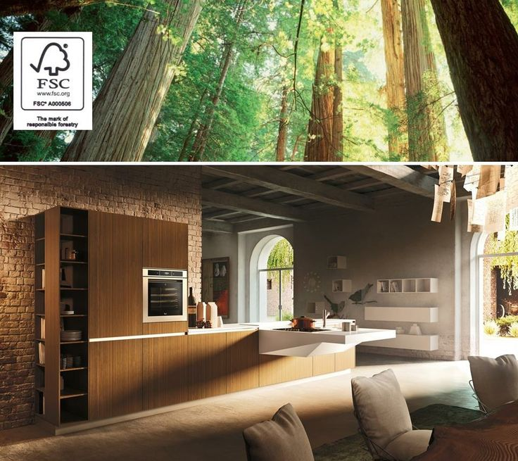 We are proud that Snaidero holds the FSC Chain-of-Custody certification, ensuring that all the wood products used for our kitchens come from verified sustainable sources and source forest replenishment!  See more of our environmentally-friendly practices: http://www.snaidero-usa.com/sustainable-designs#