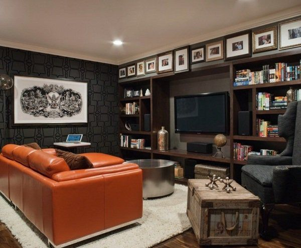 modern small man cave design