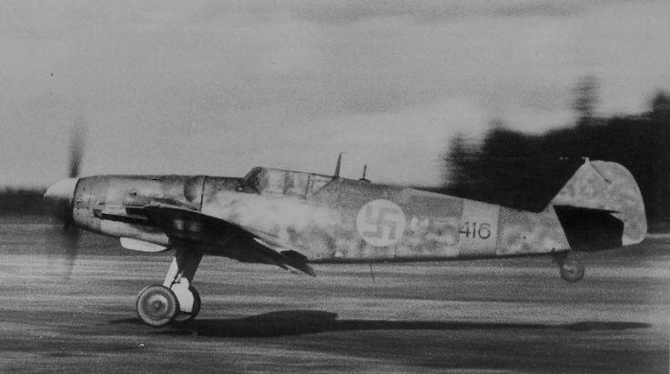 Finnish Messerschmitt 109 G-6 taking off