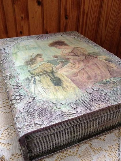 "Шкатулка-книга ""У окна"" - шкатулка-книга,шкатулка,подарок на любой случай"