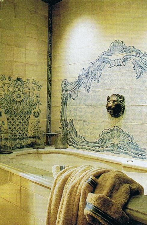 Blue And Cream French Bathroom Classic
