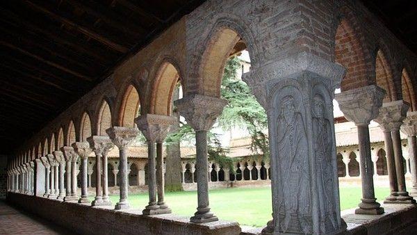 Cloître de l'abbaye de Moissac (Tarn-et-Garonne).