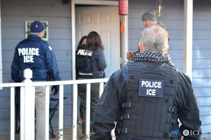 U.S. Immigration and Customs Enforcement (ICE) officers conduct a targeted enforcement operation in Atlanta, Georgia, U.S. on February 9, 2017. Picture taken on February 9, 2017. Courtesy Bryan Cox/U.S. Immigration and Customs Enforcement via REUTERS