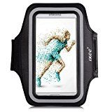 iXCC Trek Series Easy Fitting Sport Gym Running Sweatproof Armband with Dual Arm-Size Slots for Samsung Galaxy S5, iPod MP3 Player - Black