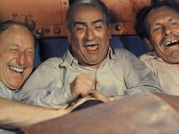 """Louis de Funès, Andre Bourvil & Terry Thomas in """"La Grande Vadrouille"""", such a funny film... ;)"""