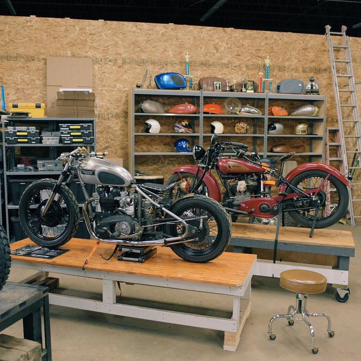 8299 best images about bill 39 s style board on pinterest for Motorcycle garage plans