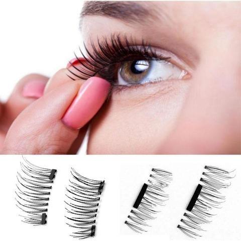 False Eyelashes High Quality 1 Pair 3d Magnetic False Eyelashes Lashes Reusable False Magnet Cilios Posticos Latest Fashion Beauty Essentials