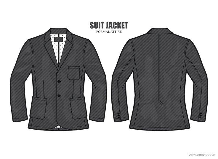 Men Formal Suit Jacket Vector by VecFashion on Creative Market