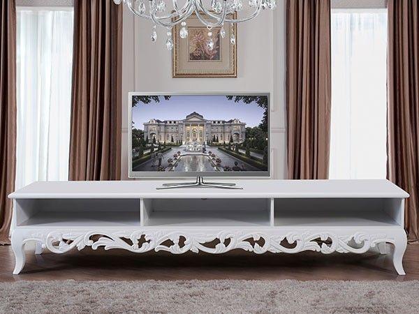 Natalie tv benk i hvit