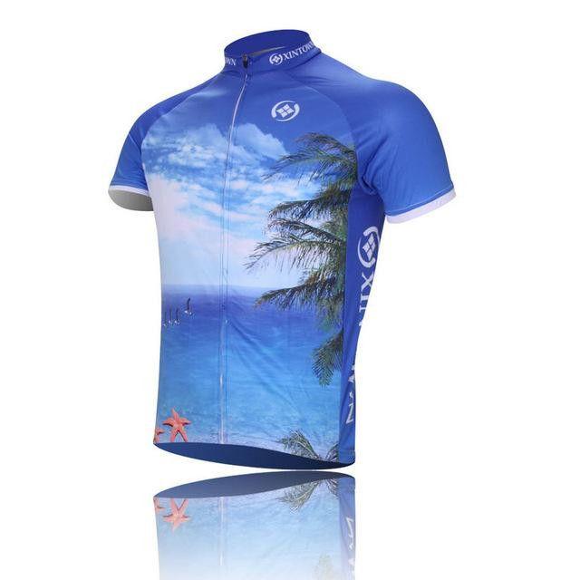 XINTOWN Seascape Men's Short Sleeve Team Sportswear Cycling Jersey [Sz S-4XL]