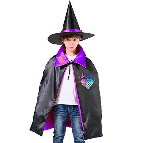 Girls Kids Black Wizard Halloween Fancy Dress Costume Hat /& Cape Boys