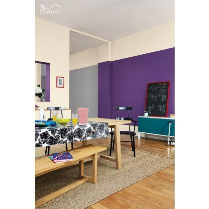 dulux feature wall purple pout matt emulsion paint 1. Black Bedroom Furniture Sets. Home Design Ideas