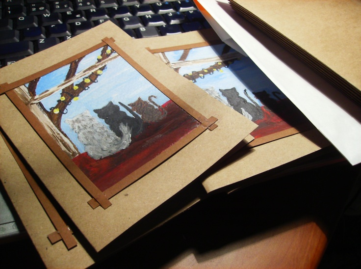 Painted christmascards