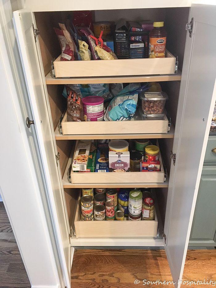 installing sliding shelves in a pantry organization sliding rh pinterest com