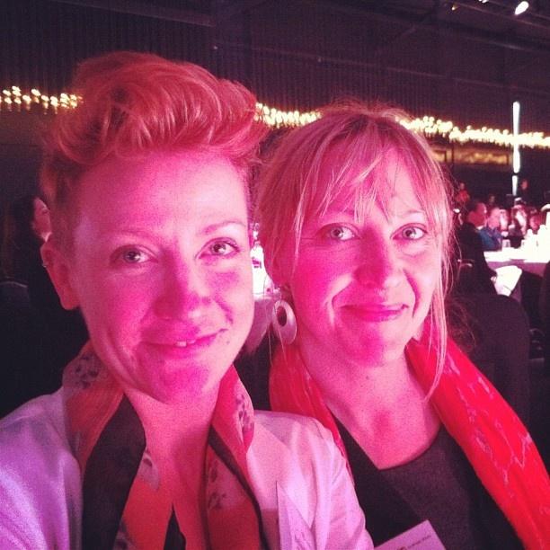 My lovely brekky guests at #businesschicks in Melbourne @copywritemattrs & @wonderwebby