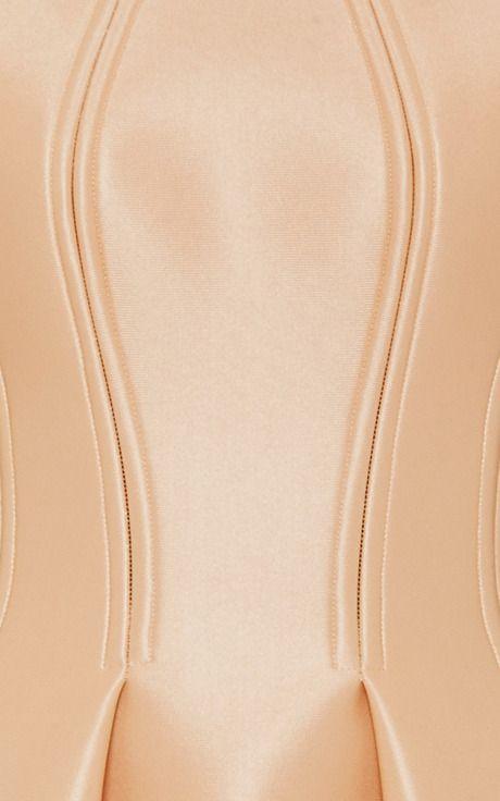 Pink Champagne Neoprene Dress by Zac Posen for Preorder on Moda Operandi