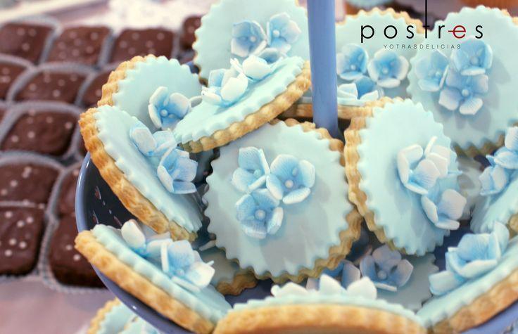 Galletas Con Hortensias de azucar #galletas #mesasdedulces #postresyotrasdelicias